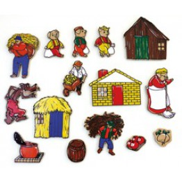 Three little pigs 15 piece magnetic story