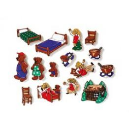 Goldilocks and the three bears-15 piece magnetic