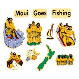 Maui goes fishing 11 piece magnetic-100% handmade in New Zealand