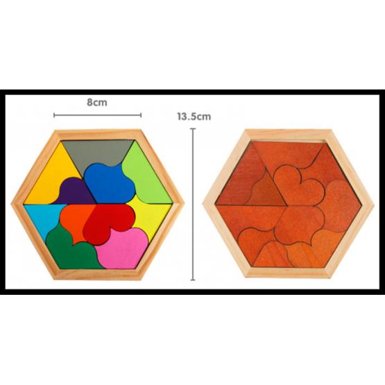 Hexagon curves set