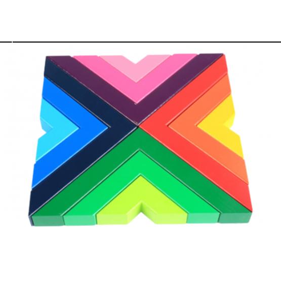 Right angled rainbow blocks