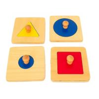Single shape puzzle set of 4