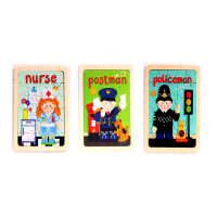 Wooden jigsaw puzzles - community heroes set of 3