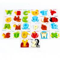 Wooden 3D alphabet animal puzzle