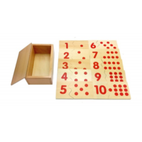 Wooden counting puzzle