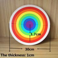 Wooden rainbow puzzle