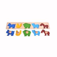 Large wooden animal knob puzzle