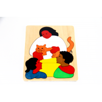 Wooden puzzle - My family 19pcs
