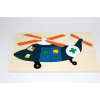 Two layered wooden rescue helicopter puzzle 36pcs