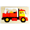 Two-layered wooden puzzle - Engineering truck 39pcs