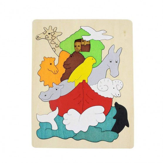 Two -layered wooden puzzle - Noah's ark