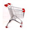 Child's size stainless steel shopping trolley