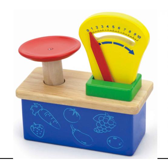 Wooden kitchen scale