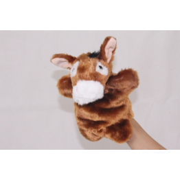 Donkey hand puppet