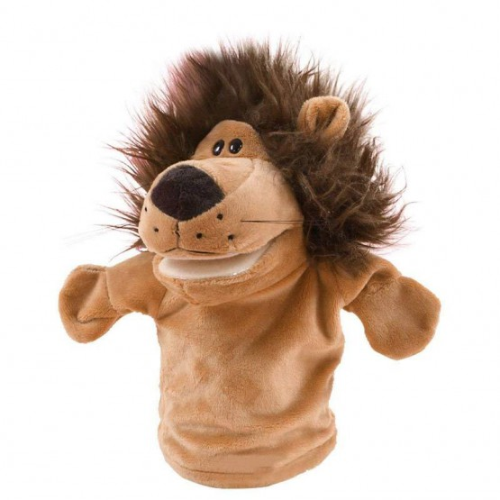 Open-mouth lion hand puppet