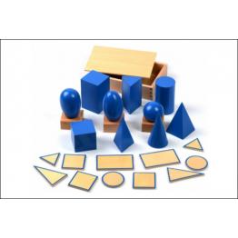 Blue geometric solids