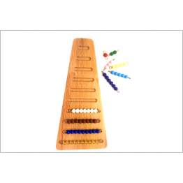 Coloured beads stair tray