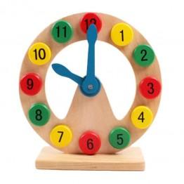 Wooden educational clock