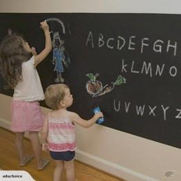 200 x 45 cm Black board wall sticker for chalks and display big size Educhoice