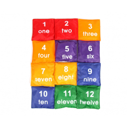 Number bean bags set of 12