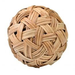 Hand-woven rattan ball
