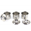Stainless steel pots with lids set of 3