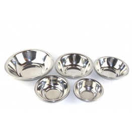 Stainless steel mixing bowls set of 5