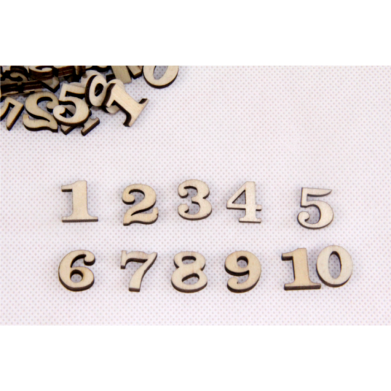 Wooden numbers 200pcs