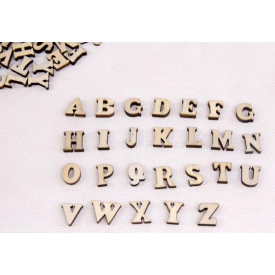 Wooden alphabets uppercase 200pcs