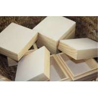Wooden boxes with lids pk of 4