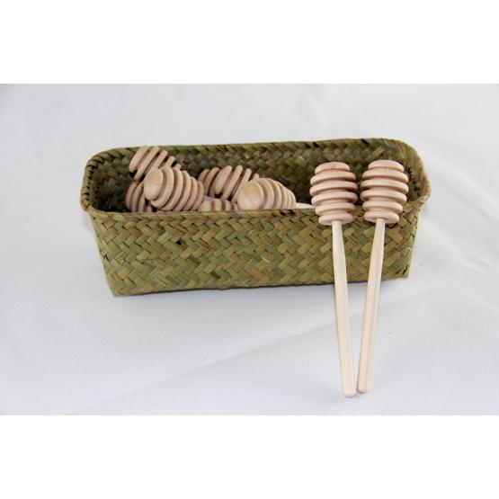 Wooden honey sticks set of 2
