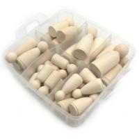 Wooden figures pack of 30