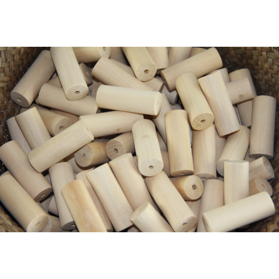 Wooden hollow cylinders pack of 10