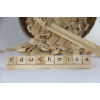 Scrabble tiles and stand set