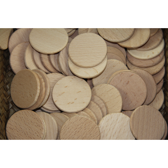 Wooden round chips pk of 10