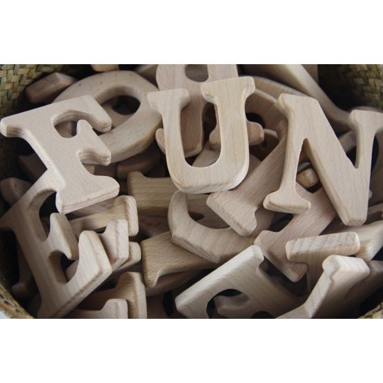 Wooden stand alone alphabets 26s