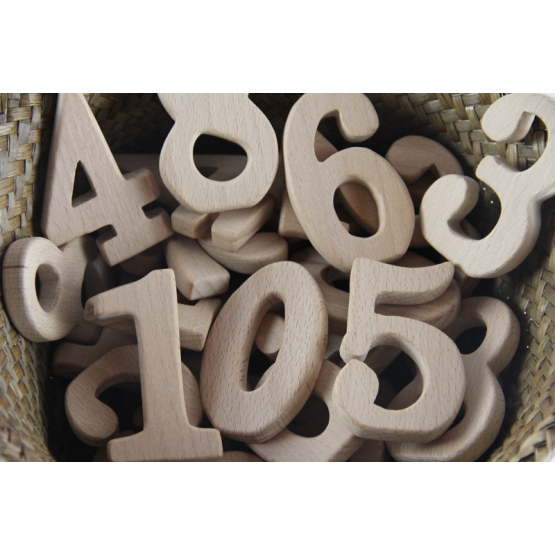 Wooden stand alone numbers 10s