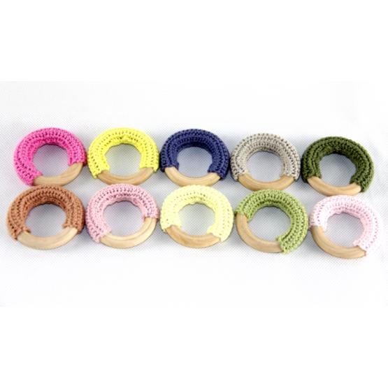 Crochet wooden rings pack of 10