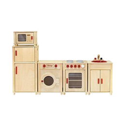 Wooden 5pcs kitchen set