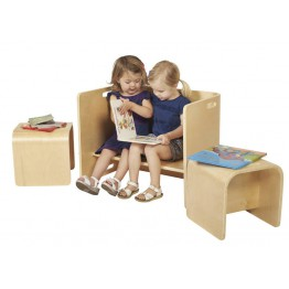 Multipurpose children table and chairs set