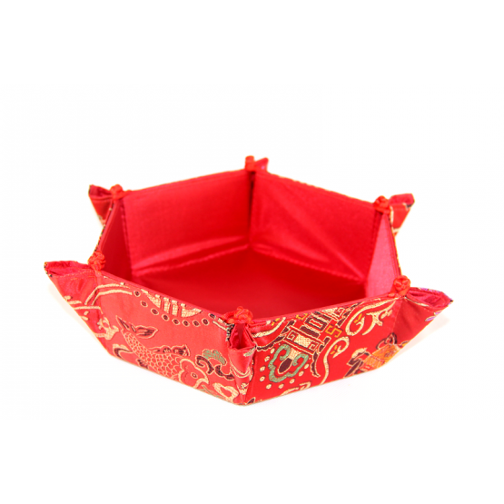 Traditional Chinese silk table basket