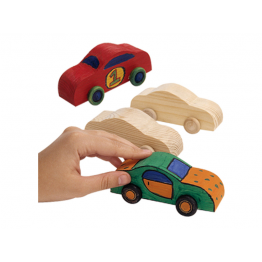 Wooden craft cars set of 4