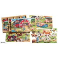Wooden 4 in 1 puzzle - Farm life