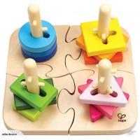 Peg lock puzzle