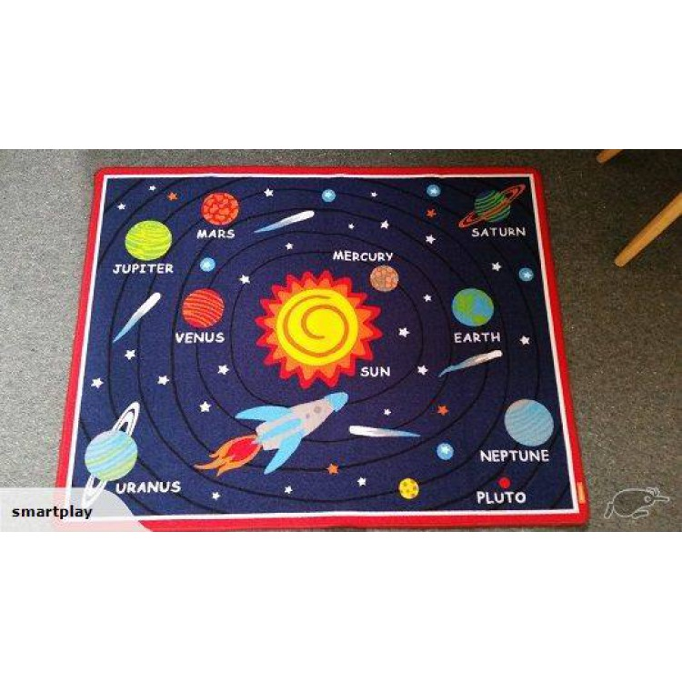 Kids Rug Educational Learning Carpet Stars Nursery Rug