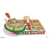Wooden pizza set with wooden tray