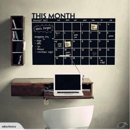 Wall calender note reminder planner black board sticker office home Educhoice