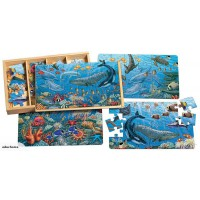 Wooden 4 in 1 puzzle - Ocean life