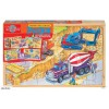 Wooden 4 in 1 puzzle - Construction vehicles