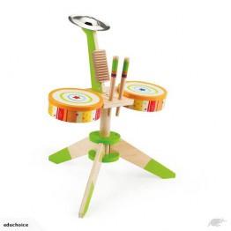 Wooden drum kit